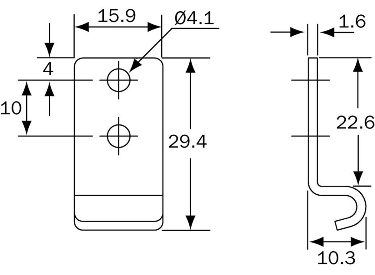 27 Series - Catchplate - Type 3 dimension guide