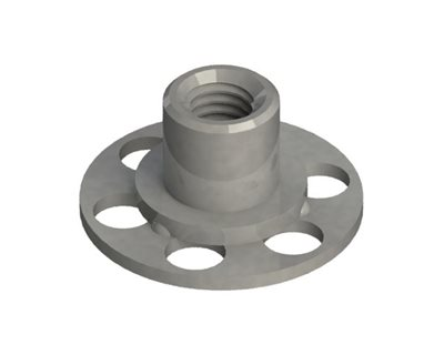 Female Bonding Fasteners - 23mm Round Open Base