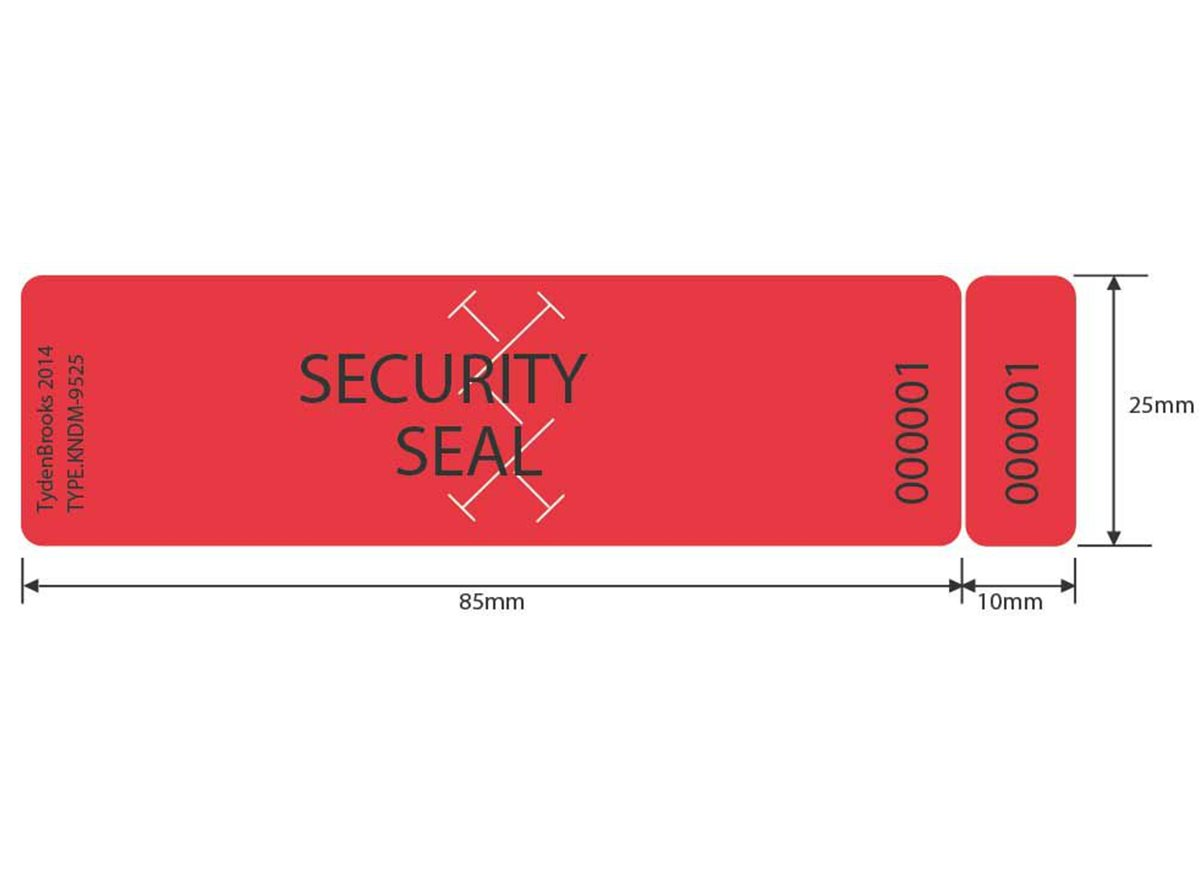 Void Security Labels | KL Total Transfer  dimension guide