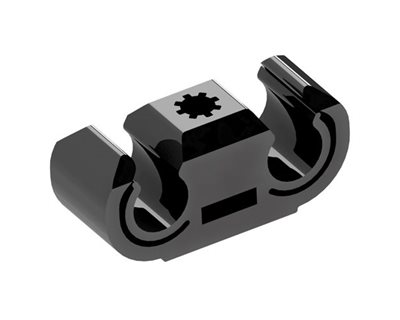 Weld Stud Cable Clips - Double