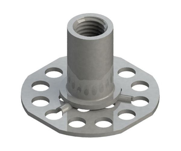 Female Bonding Fasteners - 38mm Round Open Base slide 1
